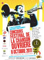 Affiche du premier festival de la chanson ouvrière, Charleroi, 2011