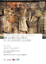 """Affiche du Colloque """"L'art social en France. De la Révolution à la Grande Guerre"""", INHA, 2011"""
