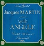 "Pochette du vinyl, Jacques Martin, ""Mademoiselle Angèle"""