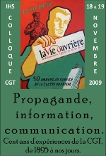 "Affiche du colloque ""Propagande, Information, Communication"""